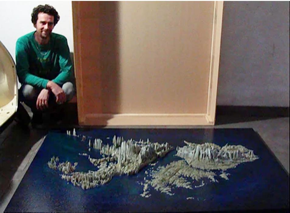 Islas Malvinas en 3D