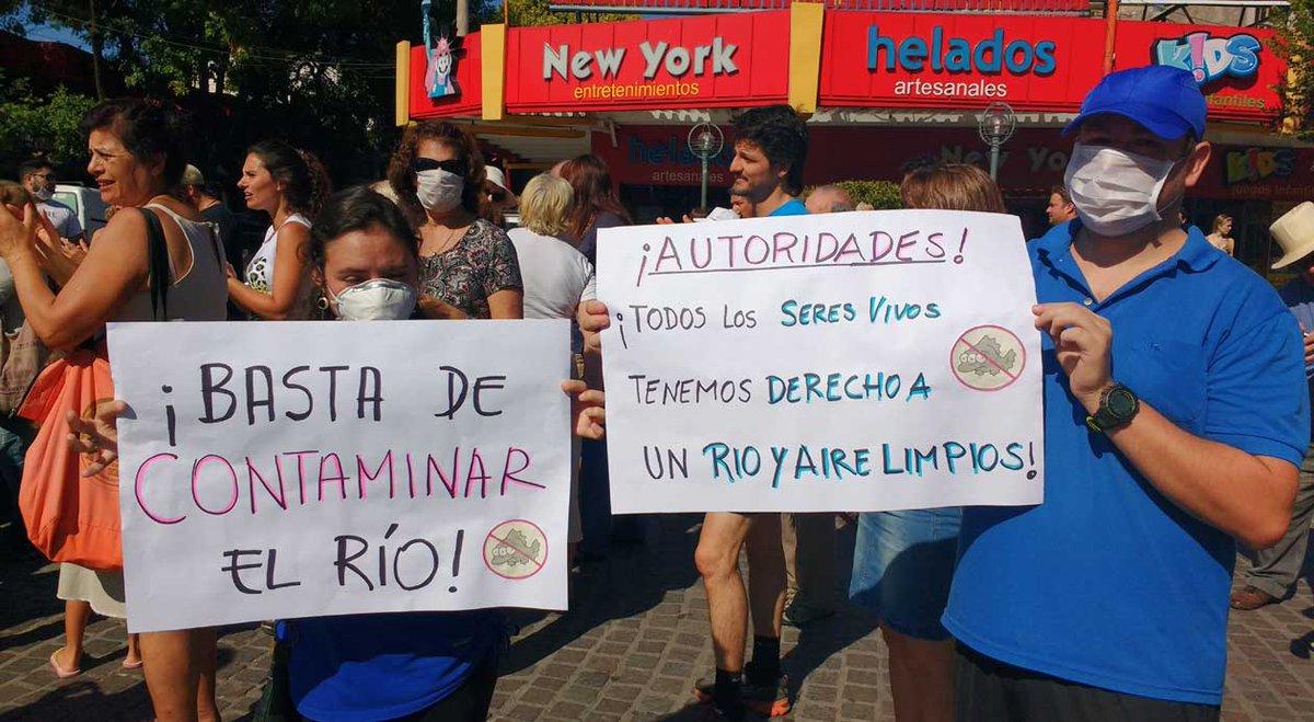 Protesta en Carlos Paz