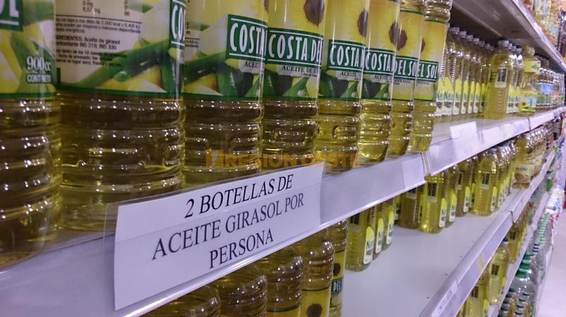 Racionamiento de aceite en los supermercados de Rafaela