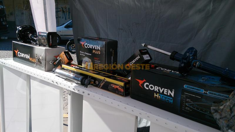 Productos Corven en la Plaza 25 de Mayo de Rafaela