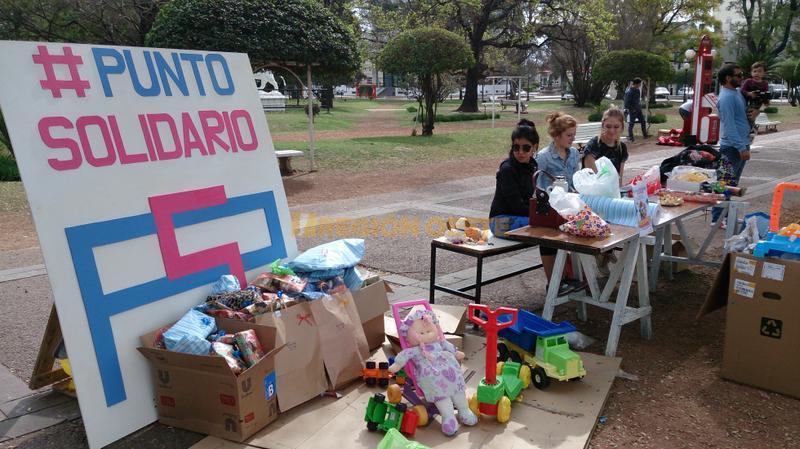 El Punto Solidario en la plaza 25 de Mayo de Rafaela