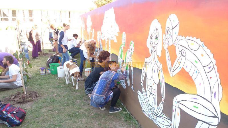 "Mural en la ""Plazoleta Silvia Suppo"""