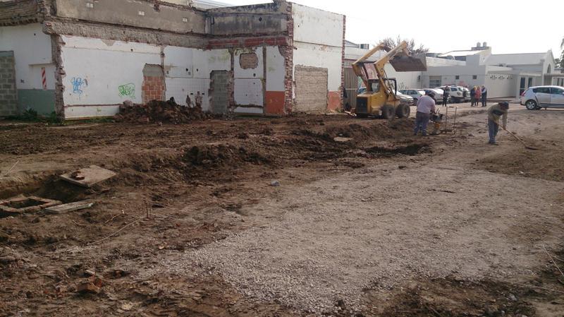 Obras de limpieza en la antigua terminal de colectivos