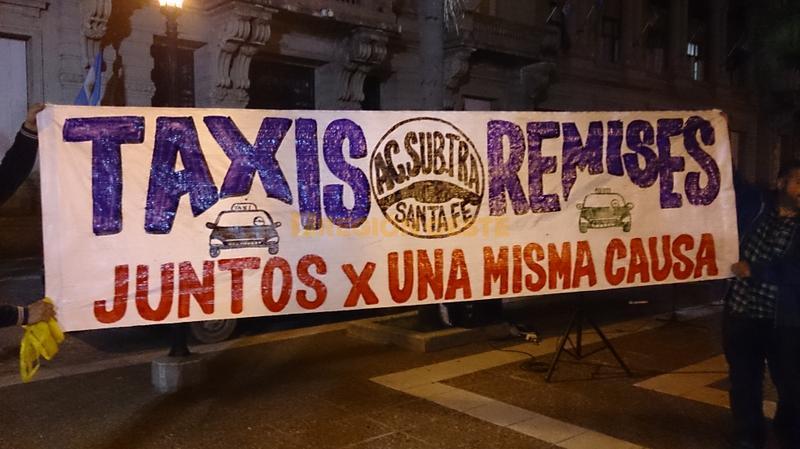 Los Taxista y Remiseros se suman a la manifestación por la inseguridad