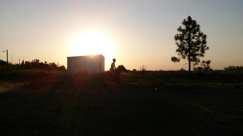 Matías Blumenthal en sus entrenamientos diarios en Moisés Ville
