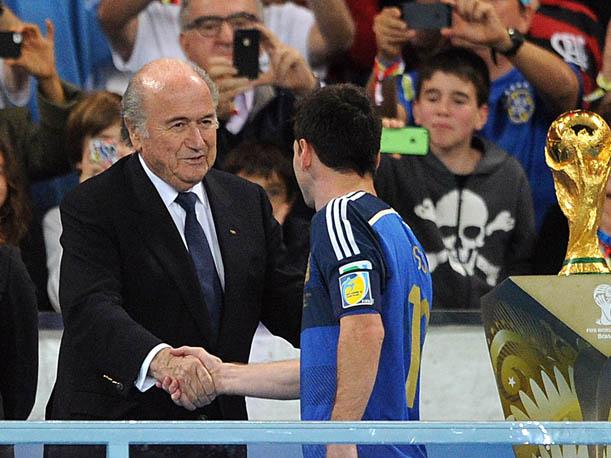 Blatter con Messi