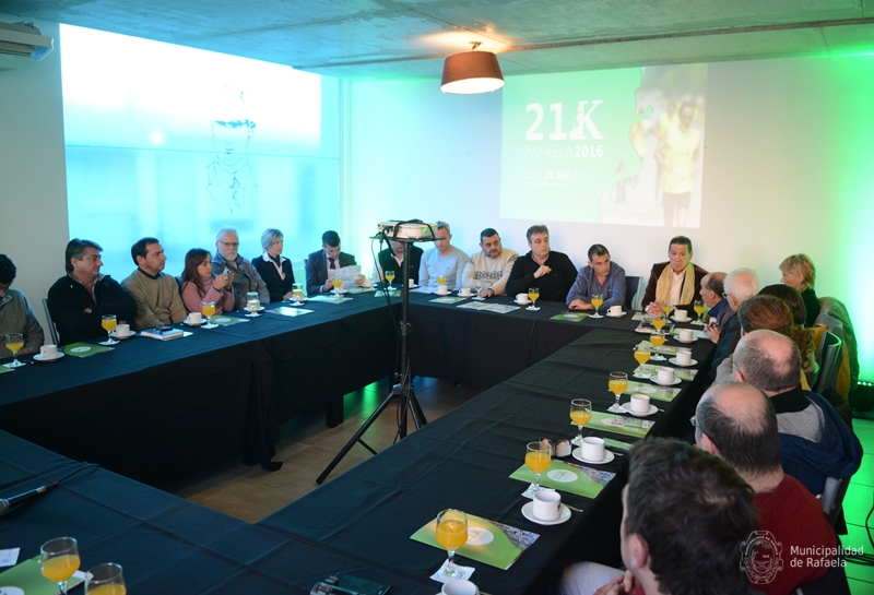 Presentación de los 21K de Rafaela en la Municipalidad