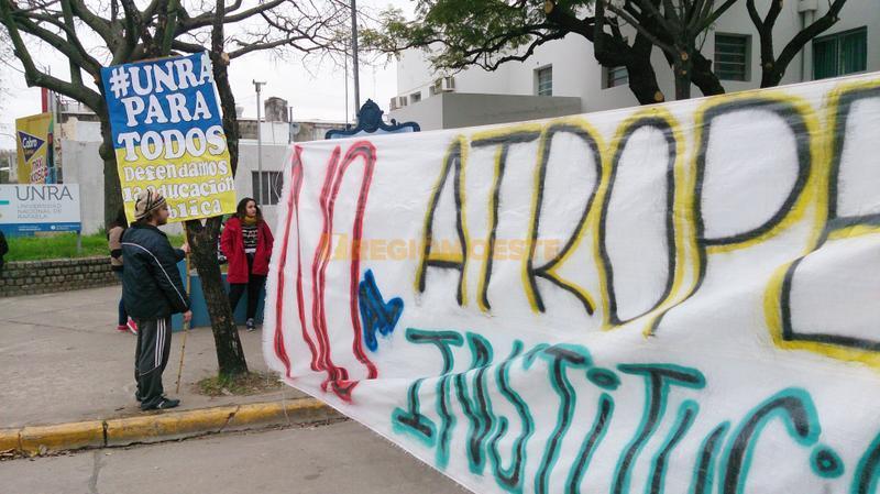 Protesta en la UNRA por la designación de un nuevo Rector