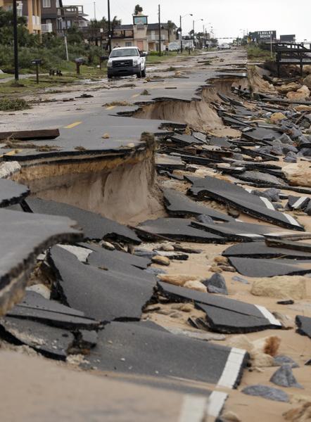 Destrucción del huracán Matthew en las costas de Florida
